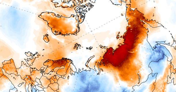 Ennätyshelteet koettelevat Siperiaa, mutta myös muita pohjoisia alueita.