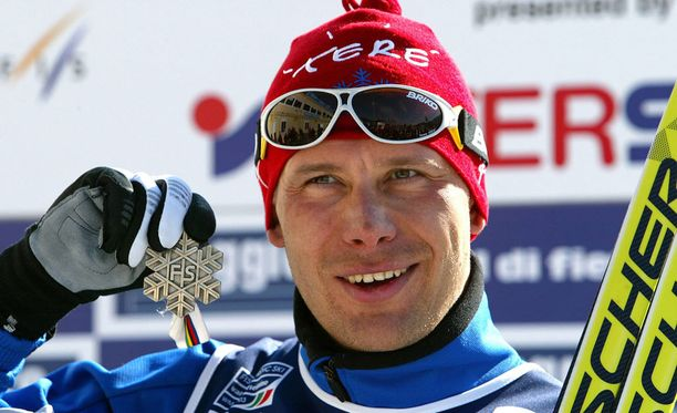 Jaak Mae voitti 15 km perinteisen MM-hopeaa Val di Fiemmessa 2003.