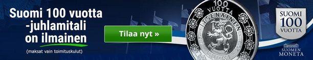 Itsenäisyyden juhlavuonna Suomen leijona on tietenkin myös Suomi 100 vuotta-juhlamitalissa. Mitalin voit tilata muistoksi itsellesi alla olevasta linkistä.