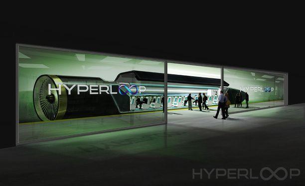 Hyperloopilla voisi yrityksen mukaan matkustaa Helsingistä Tukholmaan tunnissa, vaikka välillä pysähdyttäisiinkin.