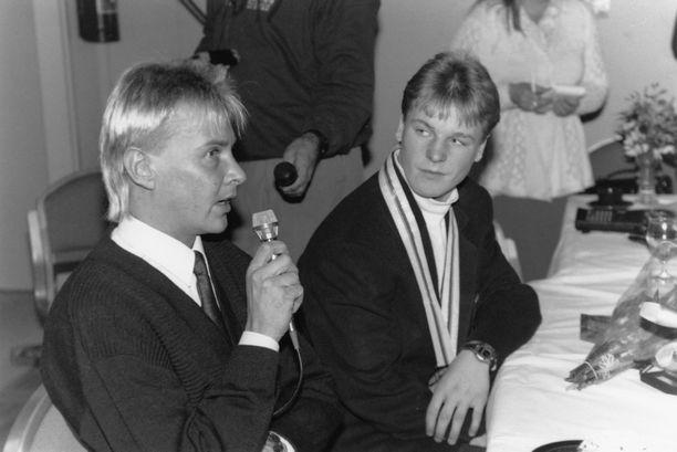 Matti Nykänen ja Toni Nieminen tutustuivat toisiinsa vajaat 30 vuotta sitten.