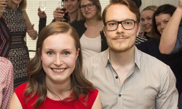 Sanna Marin ja avopuoliso Markus Räikkönen.
