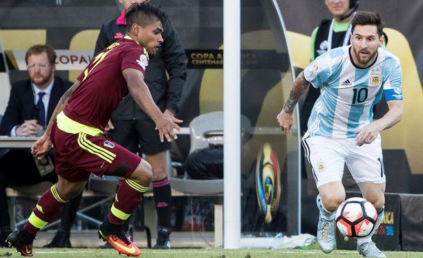 Venezuela ei pysynyt Lionel Messin tähdittämän Argentiinan kyydissä.