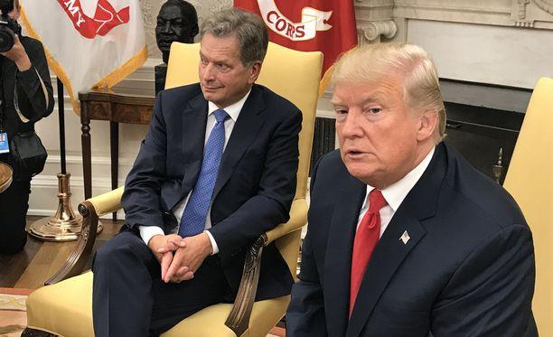 Niinistö ja Trump tapasivat maanantaina.