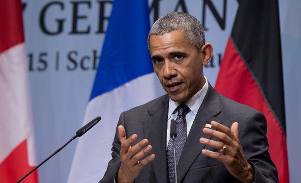 Barack Obama puhui G7-kokouksessa tänään Isisin vastaisesta taistelusta.