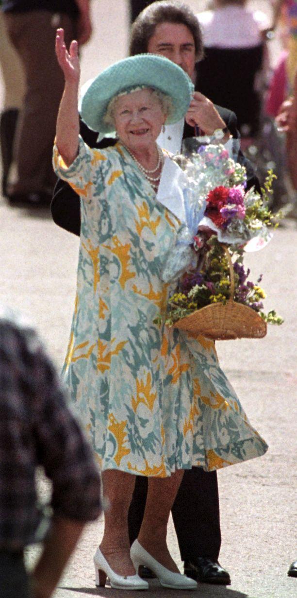 Kuningataräiti juhli 92-vuotissyntymäpäiviään vuonna 1992.