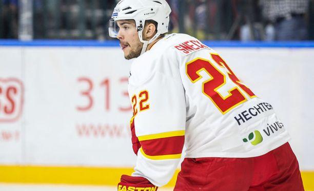Jere Sneck debytoi KHL:ssä ja vastassa oli heti hallitseva mestari Pietarin SKA.