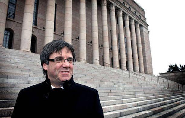 Carles Puigdemont vieraili Suomessa, mutta katosi perjantaina kun sai kuulla pidätysmääräyksestä.
