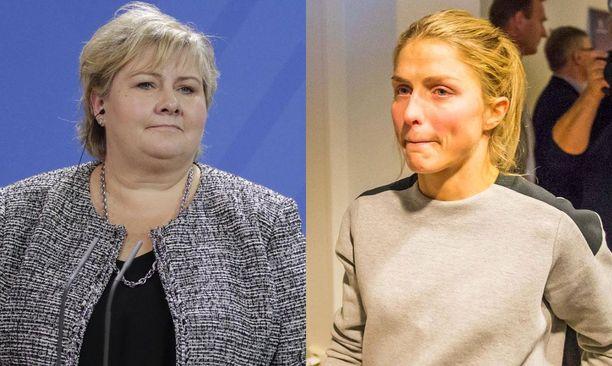 Pääministeri Erna Solbergin heitto Therese Johaugin huulirasvakohusta nousi isoksi uutiseksi Norjassa.