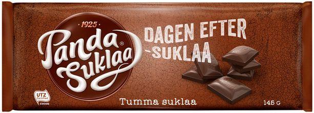 Kääreisiin on painettu erilaisia tekstejä. Tämä suklaa kuitenkaan tuskin parantaa krapulaa.
