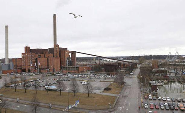 Helsingin suurmoskeijaa kaavailtiin rakennettavaksi Sörnäisten rantatien ja Hanasaaren voimalaitoksen väliselle alueelle.