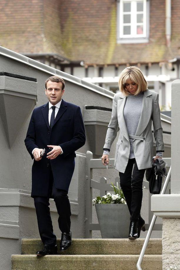 Näyttävä Brigitte Trogneux on muoti-ikoni Ranskassa.