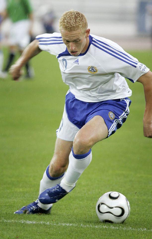 Mikael Forssell on ollut vähillä peliminuuteilla myös Suomen jalkapallomaajoukkueessa.