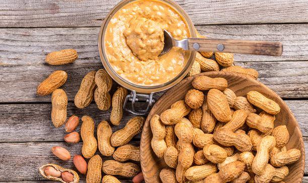Maapähkinöistä saa ihanaa maapähkinävoita.
