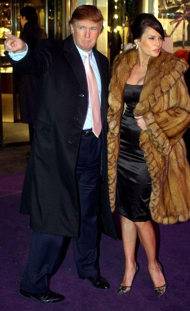 Melania Knauss ja Donald Trump New Yorkissa vuonna 2003.
