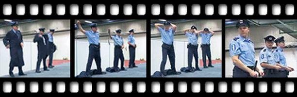 VIRKAVALTAA Näin poliisit esiintyivät koululaisille Helsingissä. Ryhmään valitut poliisit eivät ole mitään pöllijalkoja, vaan tanssitaitoa on oltava.