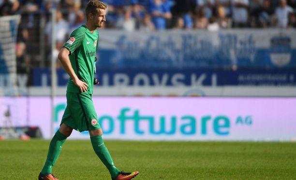 Lukas Hradecky oli pettynyt mies Darmstadt-tappion jälkeen.