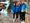 Maria Huntington (vas.), Taika Koilahti, Ella Junnila ja Wilma Murto olivat median huomion keskipisteenä nuorten yleisurheilijoiden lähtöinfossa Helsinki-Vantaan lentoasemalla.