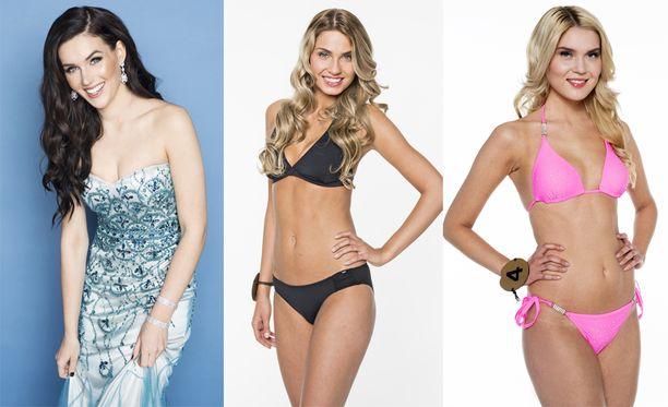 Michaela Söderholm on Miss Suomi 2017, Rosa-Mari Ryyti Miss Suomi 2014 ja Bea Toivonen Miss Suomi 2013.