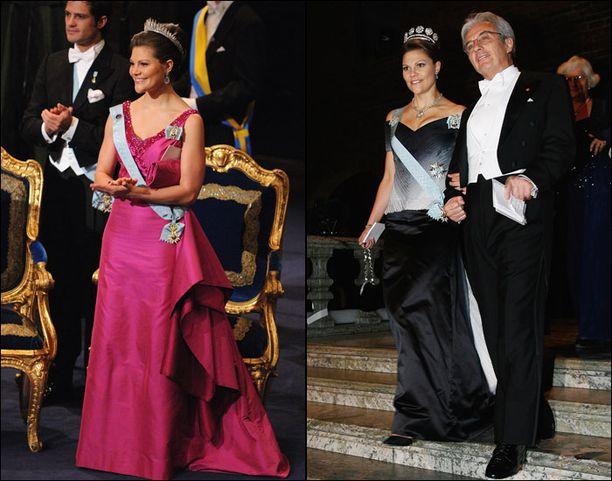 Victorian Nobel-iltapuvut vuosilta 2008 (vas.) ja 2007 olivat Pär Engshedenin käsialaa.