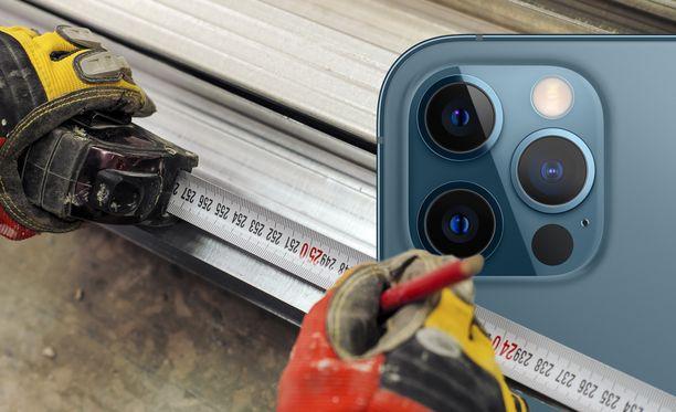 Puhelin kamera auttaa mittaamaan etäisyyksiä.