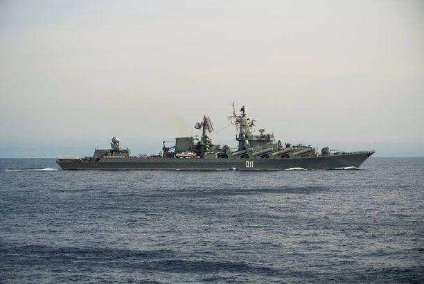 Varjag on Venäjän laivaston ohjusristeilijä, joka partioi itäisellä Välimerellä.