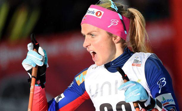 Therese Johaugin dopingkäry on iso puheenaihe Ruotsissa.