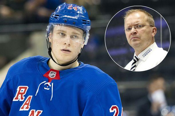 Kaapo Kakko puolusti Kalle Kaskista.