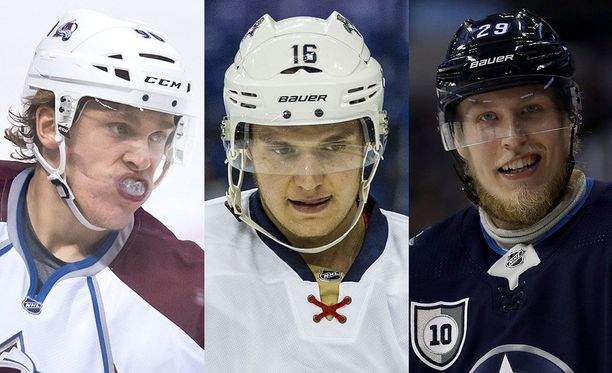 Mikko Rantanen, Alexander Barkov ja Patrik Laine ovat takoneet tällä kaudella yhteensä 128 pistettä.