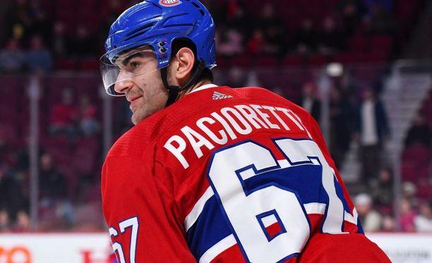 Max Pacioretty on pelannut Montrealin paidassa 626 ottelua, joissa syntyi 448 tehopistettä.