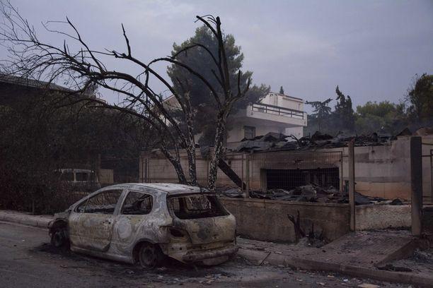 Palot ovat runnelleet pahoin Matin aluetta.