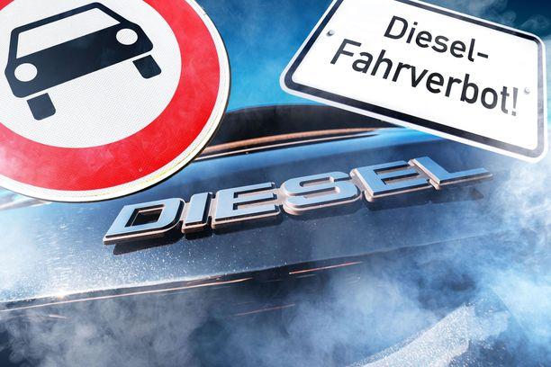 Aiemmin dieselajokieltoja on annettu kaupunkien keskustoihin Saksassa.