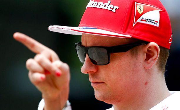 Kimi Räikkönen on vauhdissa.