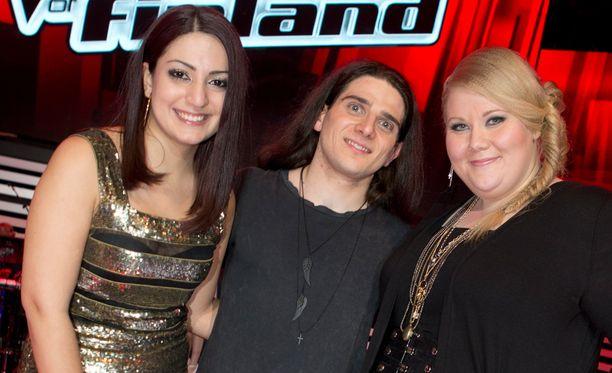Avin Alyasi (vas.) pääsi jatkoon yhdessä Paolo Ribaldinin ja Miia Kosusen kanssa.