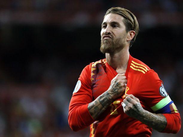 Sergio Ramos on Espanjan maajoukkueen vakiokasvoja.