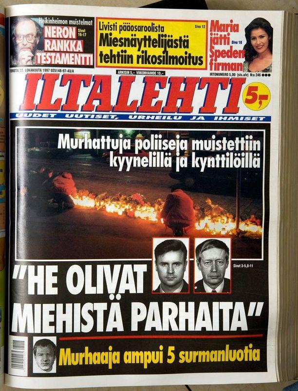 """Tuttavat ja työtoverit kehuivat surmattuja poliiseja Eero Holstia ja Antero Paloa """"miehistä parhaiksi""""."""