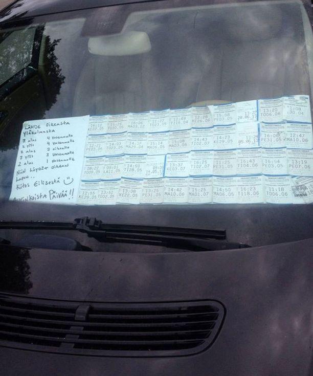 Näin ovelasti mies päätti jekuuttaa parkkipirkkoja.