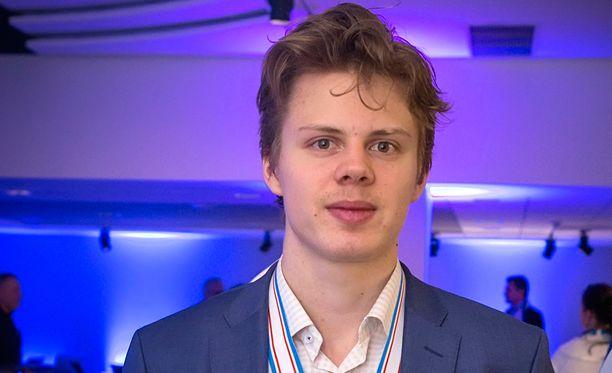 20-vuotias Kasperi Kapanen on pelannut Toronto Maple Leafs -joukkueessa vuodesta 2015 alkaen.