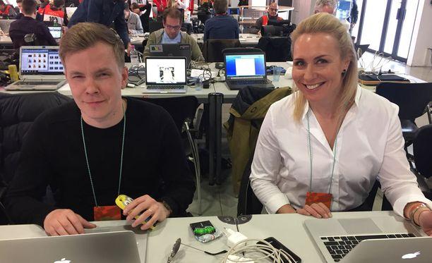 Niki Juusela ja Mervi Kallio muodostavat Maikkarin F1-tutkaparin.