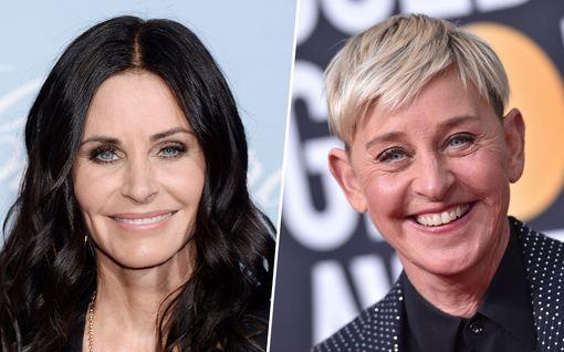 """Ellen DeGeneres muutti Frendit-tähti Courteney Coxin luo: """"Olet kamala kämppis"""""""