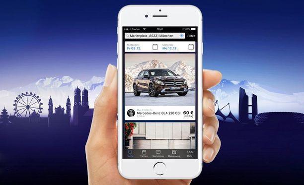Mercedes-Benzin uusi puhelisovellus mahdollistaa minkä tahansa auton vuokraamisen kuluttajalta toiselle.