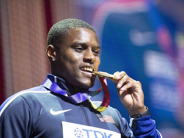 Coleman voitti kultaa 100 metrin juoksussa Dohan MM-kisoissa.