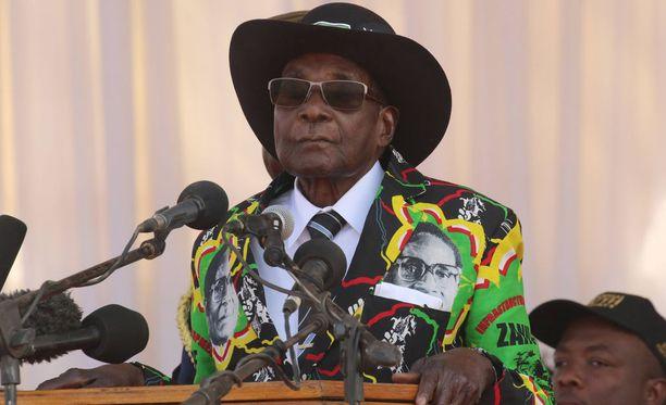Robert Mugabe syyskuussa.