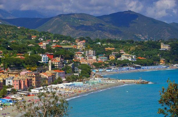 Ligurian rannikko muodostaa Italian Rivieran.
