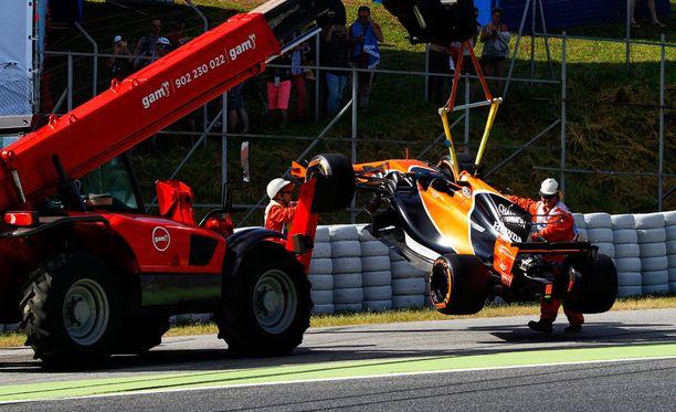 McLaren ja nosturi ovat olleet kova kaksikko tämän kauden F1:ssä.