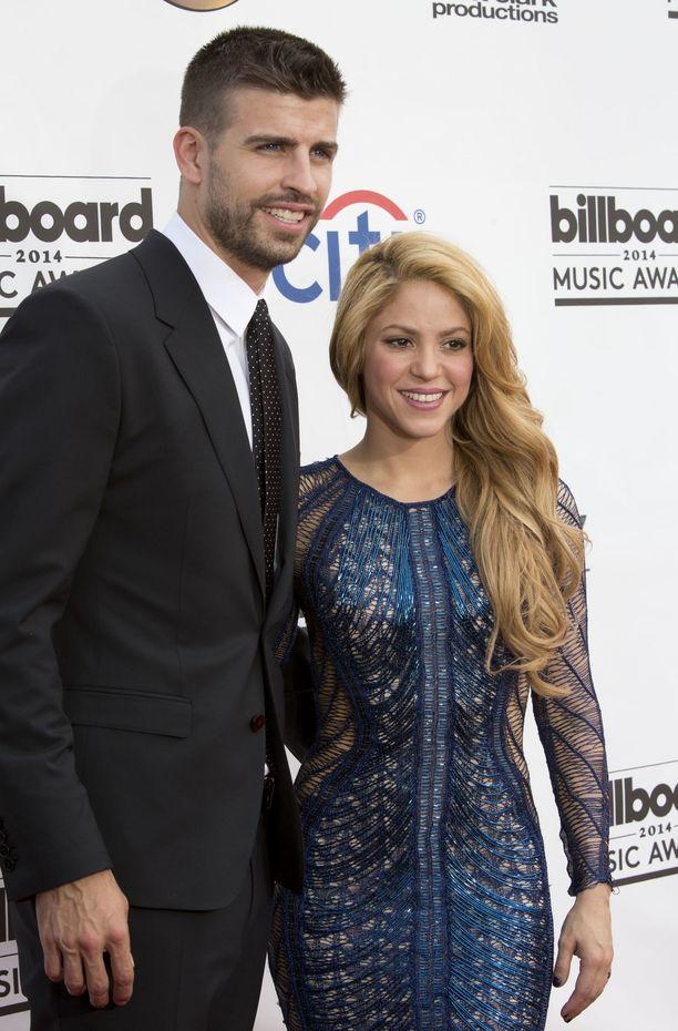 Gerard Pique ja Shakira kuvassa vuonna 2014.