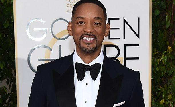 Golden Globe -gaalaan Will Smith osallistui, kuten kuvasta näkyy.