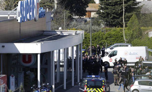 Viimeisin verinen isku tapahtui supermarketissa Trebes'ssä.