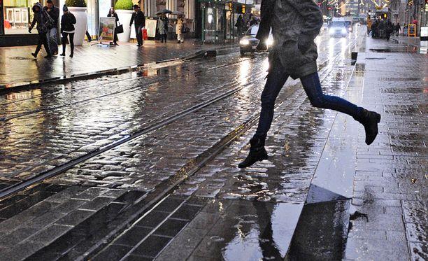 Tammikuussa satoi poikkeuksellisesti paljon vettä.