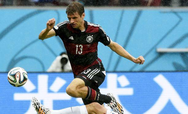 Thomas Müller oli Saksan maailmanmestaruuden takuumies neljä vuotta sitten.